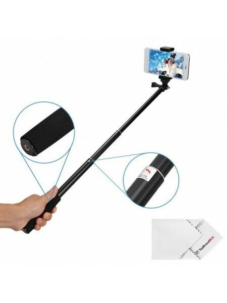 Телескопический монопод для GoPro и смартфона 100 см